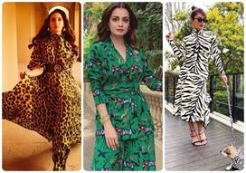 bollywood actress Animal Print Fashion