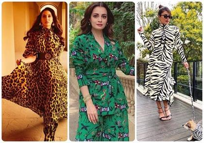 bollywood actress Animal Print Fashion