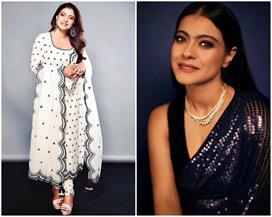 kajol tanhaji movie promotion dresses