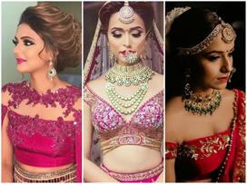 Fancy glam neckline designs for bridal outfits