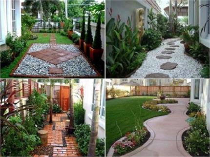 क्रिएटिविटी के साथ डैकोरेशन... Pathways पर बनाएं छोटा-सा गार्डन