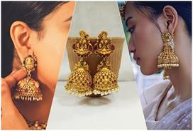 Temple style jhumkas for brides