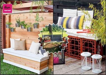 DIY Decor: बेकार पड़े सामान से यूं बनाएं क्रिएटिव Handcrafted Bench