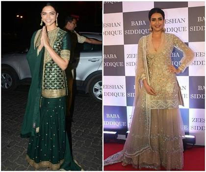 bollywood actress sharara suit ideas for eid party