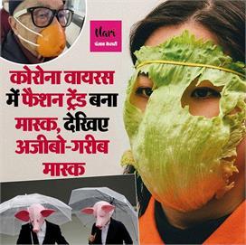 people wore strange masks for corona safety