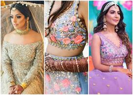 lehenga blouse designs to morden bride