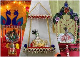 swing decoration ideas for janmashtami