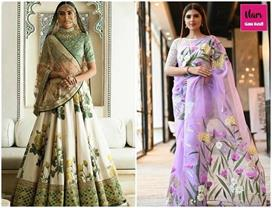 Hand Painted Lehengas And Sarees For New Era Brides