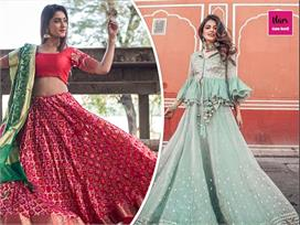 lehenga designs for karva chauth
