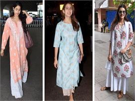 bollywood actresses chikankari kurta for summer special