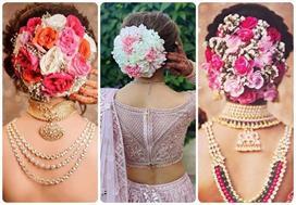 Colorful Floral Buns Ideas For Bridal
