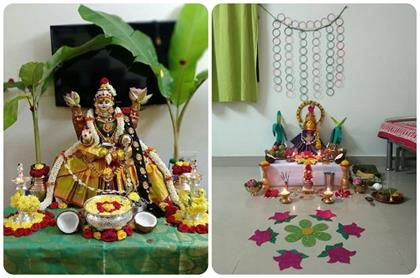 Navratri Pooja Room Decoration ideas