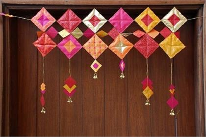 make DIY Toran for navratri special