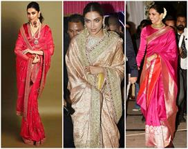 deepika padukone saree for royal look