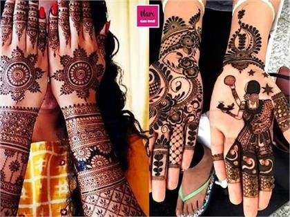Portrait Mehndi designs for Karva Chauth