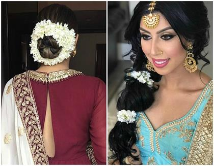 include gajra in your hairstyle this diffrent ways