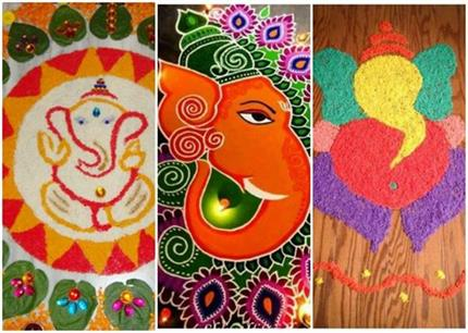 Ganesh Chaturthi: खूबसूरत रंगोली के 14 आसान डिजाइन्स