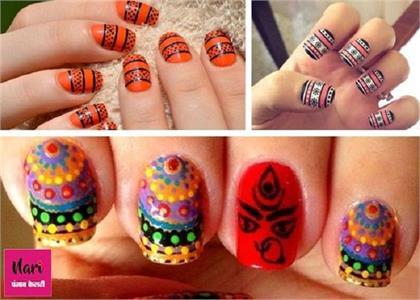 Navratri special nail art