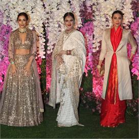 Bollywood Actress glamorous at akash ambani wedding reception