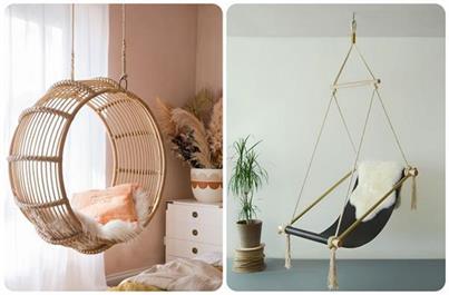 गर्मियों के लिए परफेक्ट Hanging Chairs, देखिए एकदम लेटेस्ट...