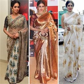 sridevi best saree collection