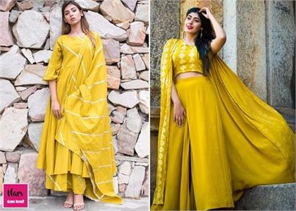 Try these Yellow Outfits for Garba or Dandiya Night