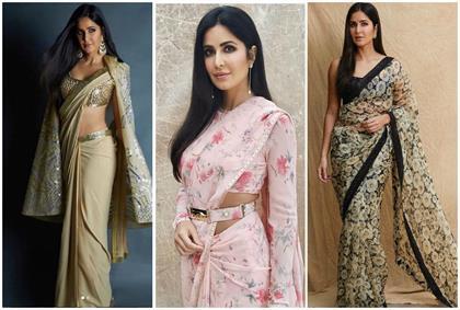 katrina kaif 10 saree for girlish-look