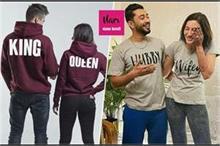 मैचिंग टी-शर्ट में दिखे Newly Married गौहर-जैद, कपल्स में...