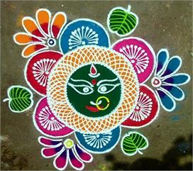 latest rangoli designs for navratri