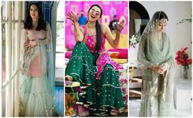 the trend of sharara suit came again demand increased in brides see pics