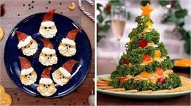 Christmas Food Decor: स्वाद ही नहीं, खाने की डैकोरेशन भी हो...