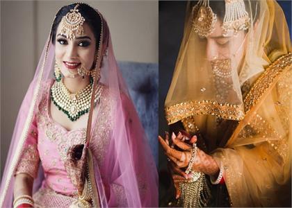 minimal and lightweight dupatta design for summer brides