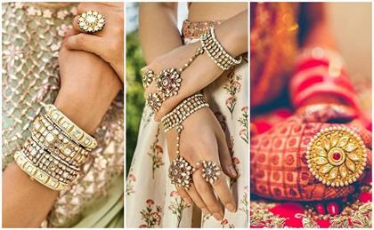 trendy hand jewellery designs for morden brides