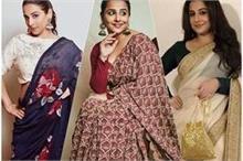 बॉलीवुड फैशन क्वीन विद्या बालन ने इन 12 साड़ियों में ढाया...