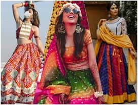bandhani lehengas for festival and wedding season