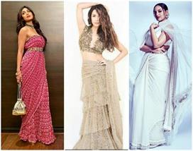 different saree style look in bollywood divas