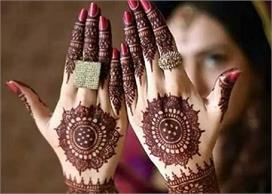 round simple mehndi designs for karva chauth