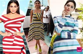 summer fashion striped print dresses