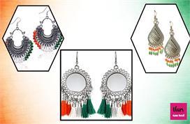 tricolour jhumka ideas