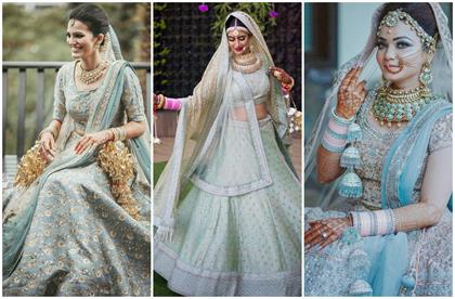 brides who looked super voguish in powder blue outfits