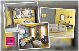 Home decor tips with grey and yellow color combination