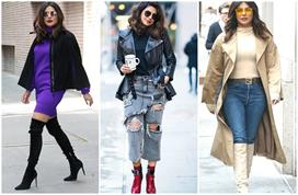 priyanka chopra winter footwear collection