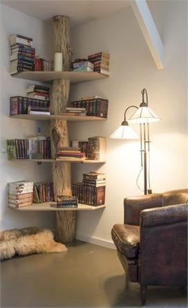 Decorate the corner of the house and the use of free space