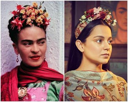 kangana dressed like frida kahlo injured people with her simplicity