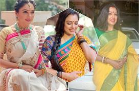 rupali ganguly best saree collection