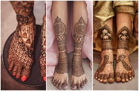 stylish and trending foot mehndi designs