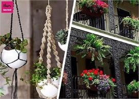 Decorate balcony with beautiful hanging plant