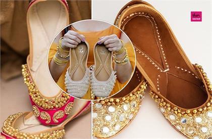 punjabi jutti latest designs for brides