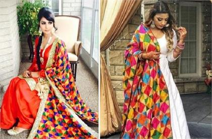 different phulkari dupattas designs