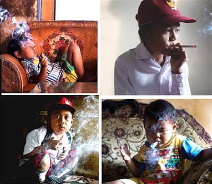 यहां  4 साल की उम्र में ही बच्चे पीने लगते हैं सिगरेट! (pics)